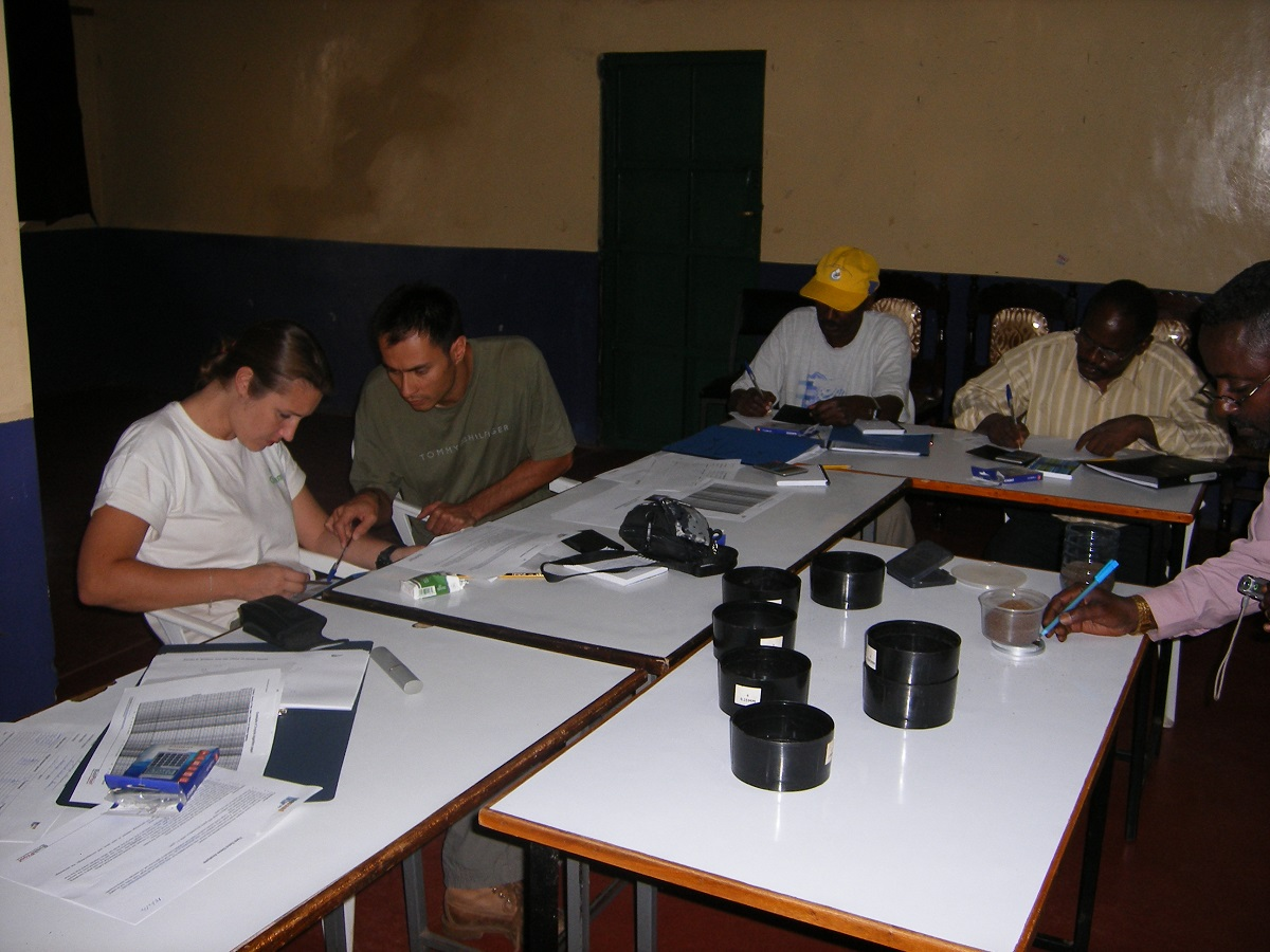 Doing sieve analysis, Machakos 2007