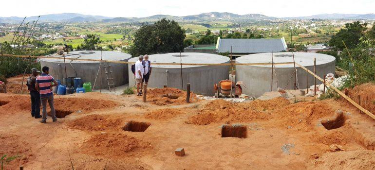Large ferrocement water tank